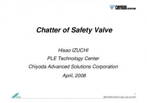 Chatter of Safety Valve