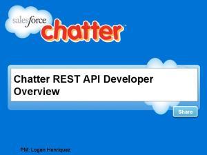 Chatter REST API Developer Overview Share