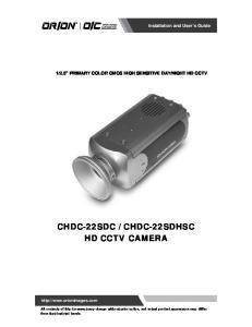 CHDC-22SDHSC HD CCTV CAMERA