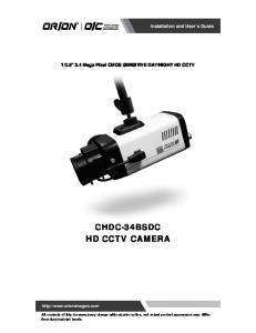 CHDC-34BSDC HD CCTV CAMERA