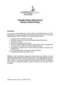 Cheadle Hulme High School School Uniform Policy