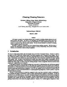 Cheating Cheating Detectors