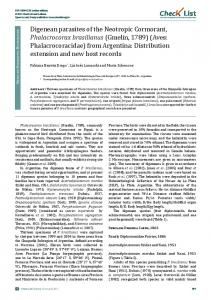 Chec List Journal of species lists and distribution