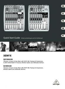 (Check out behringer.com for Full Manual)
