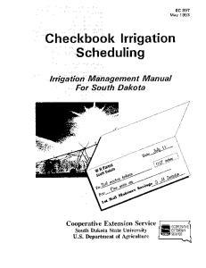 Checkbook Irrigation Scheduling