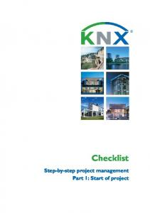 Checklist. Step-by-step project management Part 1: Start of project