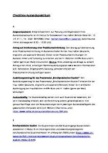 Checkliste Auslandspraktikum