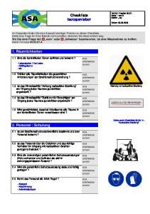 Checkliste Isotopenlabor