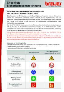 Checkliste Sicherheitskennzeichnung