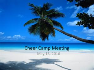 Cheer Camp Meeting May 18, 2016