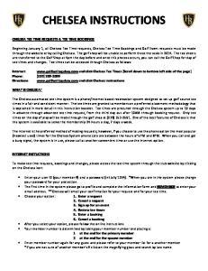 CHELSEA INSTRUCTIONS