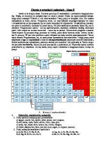 Chemia w pytaniach i zadaniach klasa II
