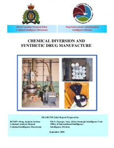 CHEMICAL DIVERSION AND SYNTHETIC DRUG MANUFACTURE