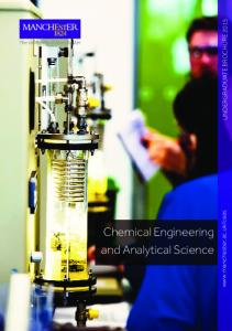 Chemical Engineering and Analytical Science