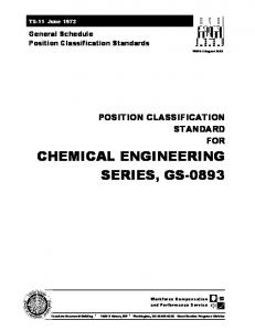 CHEMICAL ENGINEERING SERIES, GS-0893