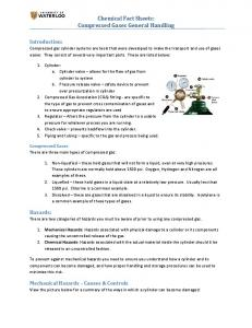 Chemical Fact Sheets: Compressed Gases General Handling