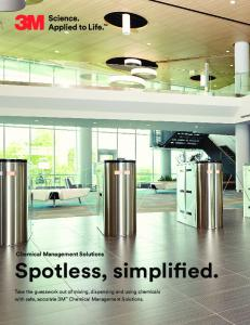 Chemical Management Solutions Spotless, simplified