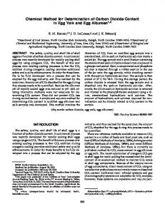 Chemical Method for Determination of Carbon Dioxide Content in Egg Yolk and Egg Albumen 1,2