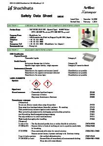 CHEMICAL PRODUCT AND COMPANY IDENTIFICATION