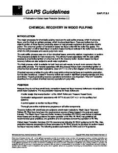 CHEMICAL RECOVERY IN WOOD PULPING