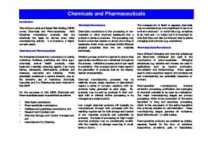 Chemicals and Pharmaceuticals