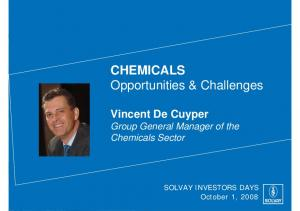CHEMICALS Opportunities & Challenges