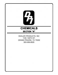 CHEMICALS SECTION N DEALER PRODUCTS, INC TH ST. GRAND PRAIRIE, TX