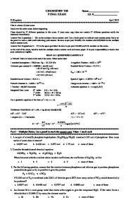 CHEMISTRY 120 FINAL EXAM