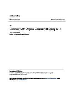 Chemistry 205 Organic Chemistry II Spring 2015