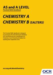 CHEMISTRY A CHEMISTRY B (SALTERS)