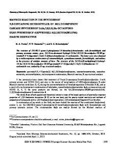 Chemistry of Heterocyclic Compounds, Vol. 48, No. 10, January, 2013 (Russian Original Vol. 48, No. 10, October, 2012)