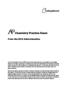 Chemistry Practice Exam