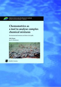 Chemometrics as a tool to analyse complex chemical mixtures