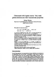 Chemotaxis with logistic source: Very weak global solutions and their boundedness properties