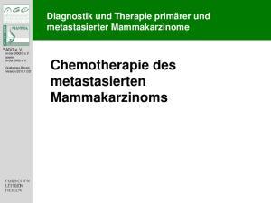 Chemotherapie des metastasierten Mammakarzinoms