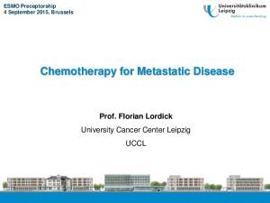 Chemotherapy for Metastatic Disease