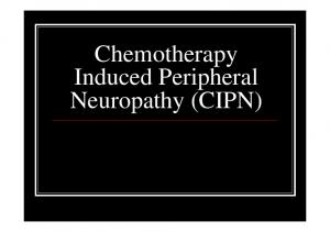 Chemotherapy Induced Peripheral Neuropathy (CIPN)
