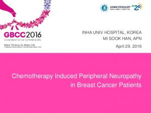 Chemotherapy Induced Peripheral Neuropathy in Breast Cancer Patients