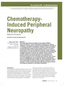 Chemotherapy- Induced Peripheral Neuropathy