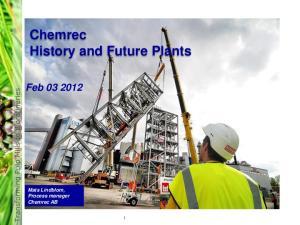 Chemrec History and Future Plants