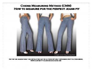 Cheng Measuring Method (CMM) How to measure for the perfect jeans fit