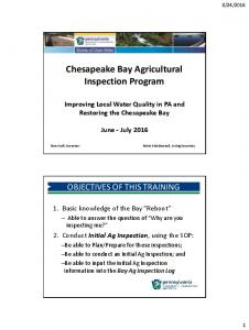 Chesapeake Bay Agricultural Inspection Program