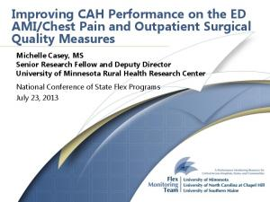 Chest Pain and Outpatient Surgical Quality Measures