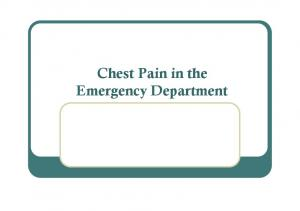 Chest Pain in the Emergency Department