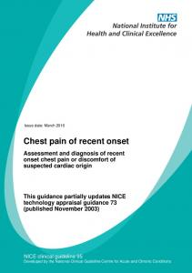 Chest pain of recent onset