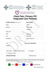 Chest Pain: Primary PCI Integrated Care Pathway