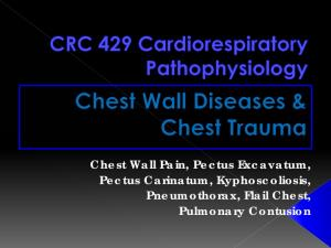 Chest Wall Pain, Pectus Excavatum, Pectus Carinatum, Kyphoscoliosis, Pneumothorax, Flail Chest, Pulmonary Contusion