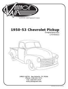 Chevrolet Pickup Evaporator Kit (754562)