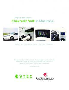 Chevrolet Volt in Manitoba