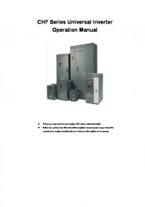 CHF Series Universal Inverter Operation Manual